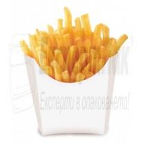 Кутия за пържени картофки. Бяла за 100-120гр. (50бр.)