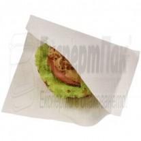 "Хартиен плик за бургери / хамбургери БЯЛ тип ""Джоб"" Произвеждаме пликове с печат"