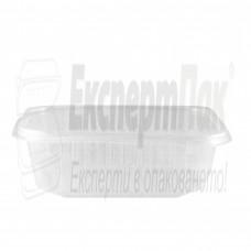 Термо пластмасова кутия за микровълнова 750мл-отделен капак пластик
