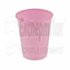 Розова пластмасова чаша