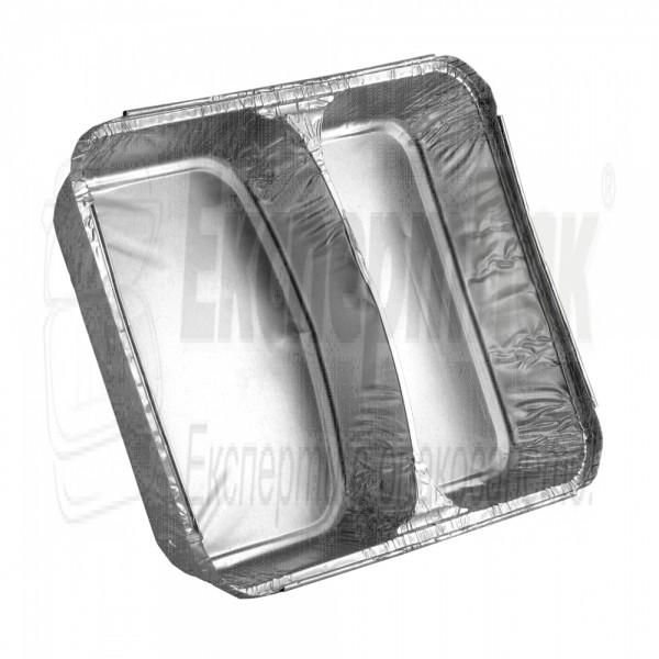 Алуминиева тарелка 325 с две отделения