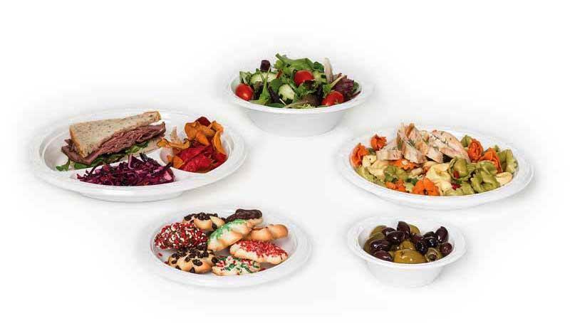 Пластмасови чинии и тарелки