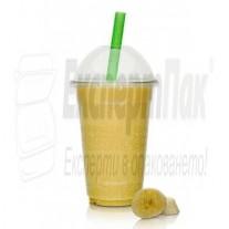 Пластмасови чаши за Фреш, бира фрапе Лукс ПП 400мл  (50бр.)С опция за капак