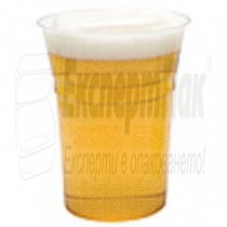 Чаша за бира ПП материал. Пластмасова чаша за бира 500мл