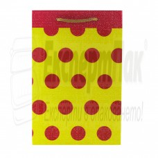 """Подаръчна торба """"Червени точки"""" 18/27"""