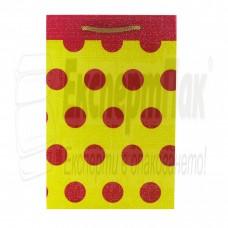 """Подаръчна торба """"Червени точки"""" 12/18"""