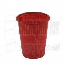 Червена пластмасова чаша 180/200 мл. (50бр.)