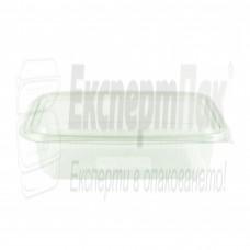 Пластмасова термо кутия за храна 1000 гр. / мл. ПП с прикачен капак (50бр.)