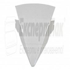 Подложка за пица от Бяло Велпапе (бяла) картонена /ъгъл/
