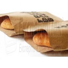 Хартиени пликове за хляб, багети, кафяв