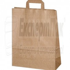 Хартиени торби с плоски дръжки