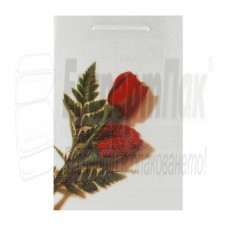 "Подаръчна торба ""Бяла роза""  12/18"