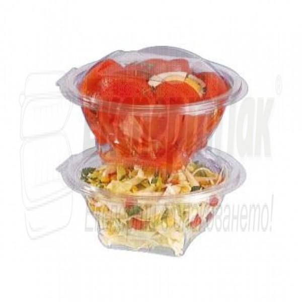 Пластмасова кутия за салата 500гр / 500мл