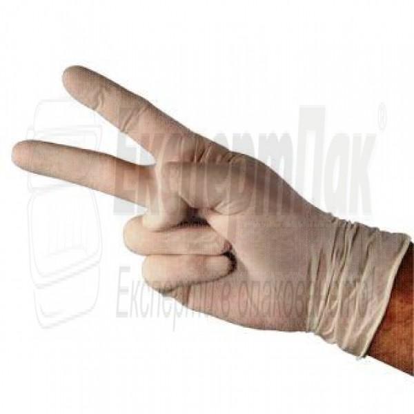 Ръкавици латекс Бели с талк