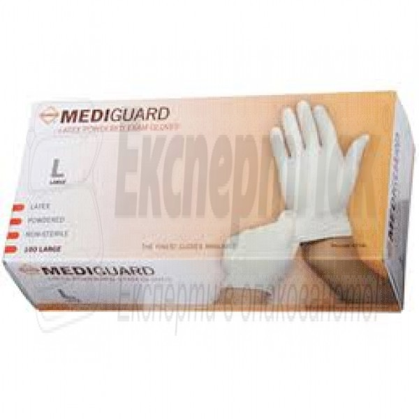Медицински ръкавици латексови с талк